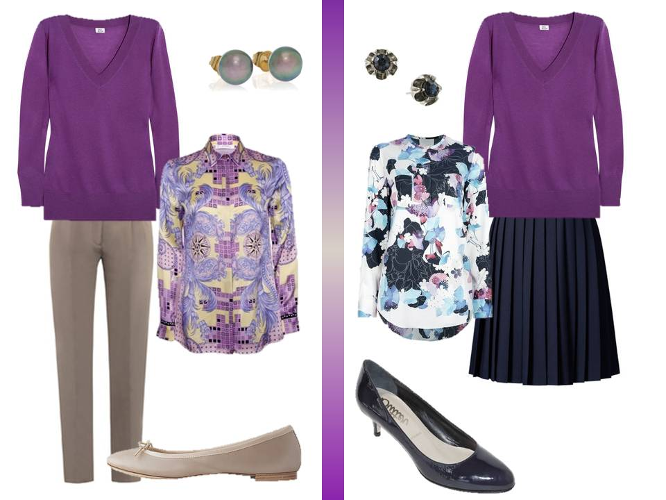 What To Wear With A Purple Blouse 48