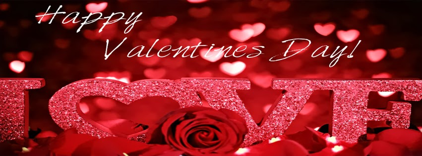 I Love You Valentin's Day Wish Facebook Profile Timeline Cover