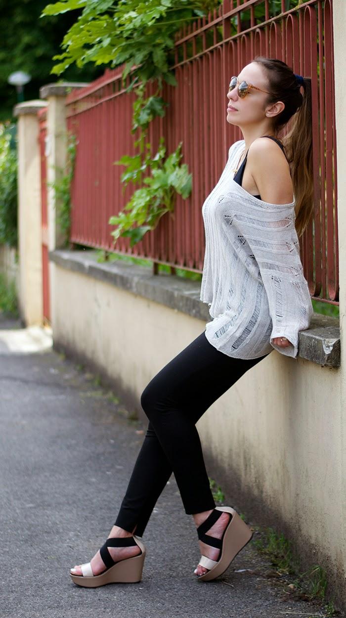 maglione beige cotone