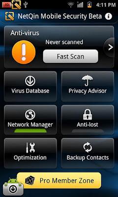 Приложение NetQin Security & Anti-virus 5.6