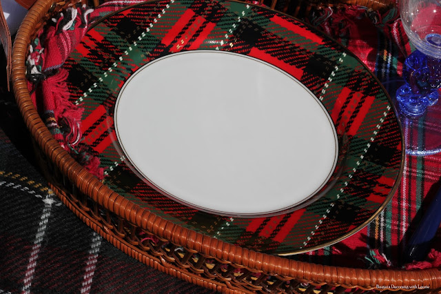 Plaid Fall Picnic-Bargain Decorating with Laurie