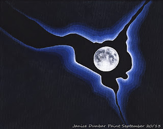 Full moon painting artwork