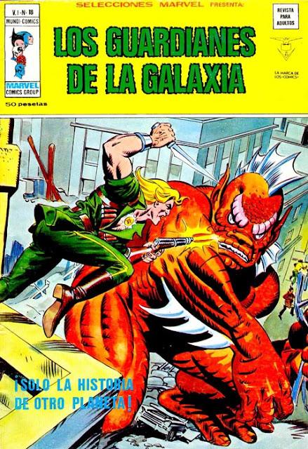 Portada de Los Guardianes de la Galaxia-Selecciones Marvel Volumen 1 Nº 18 Ediciones Vértice