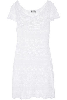 Crocheted cotton mini dress