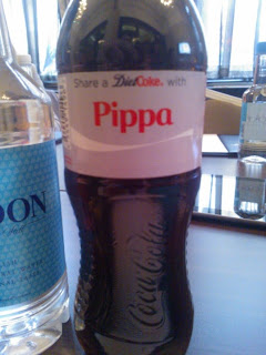 Pippa's Bottle of Diet Coke