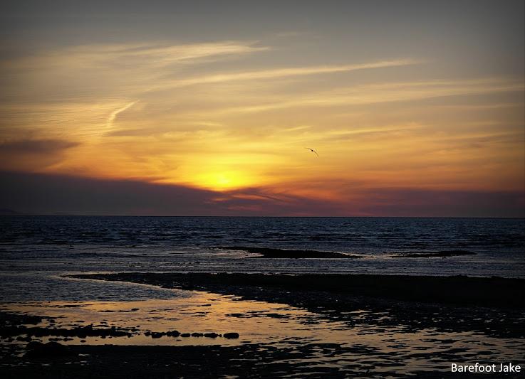 elwha mouth sunset
