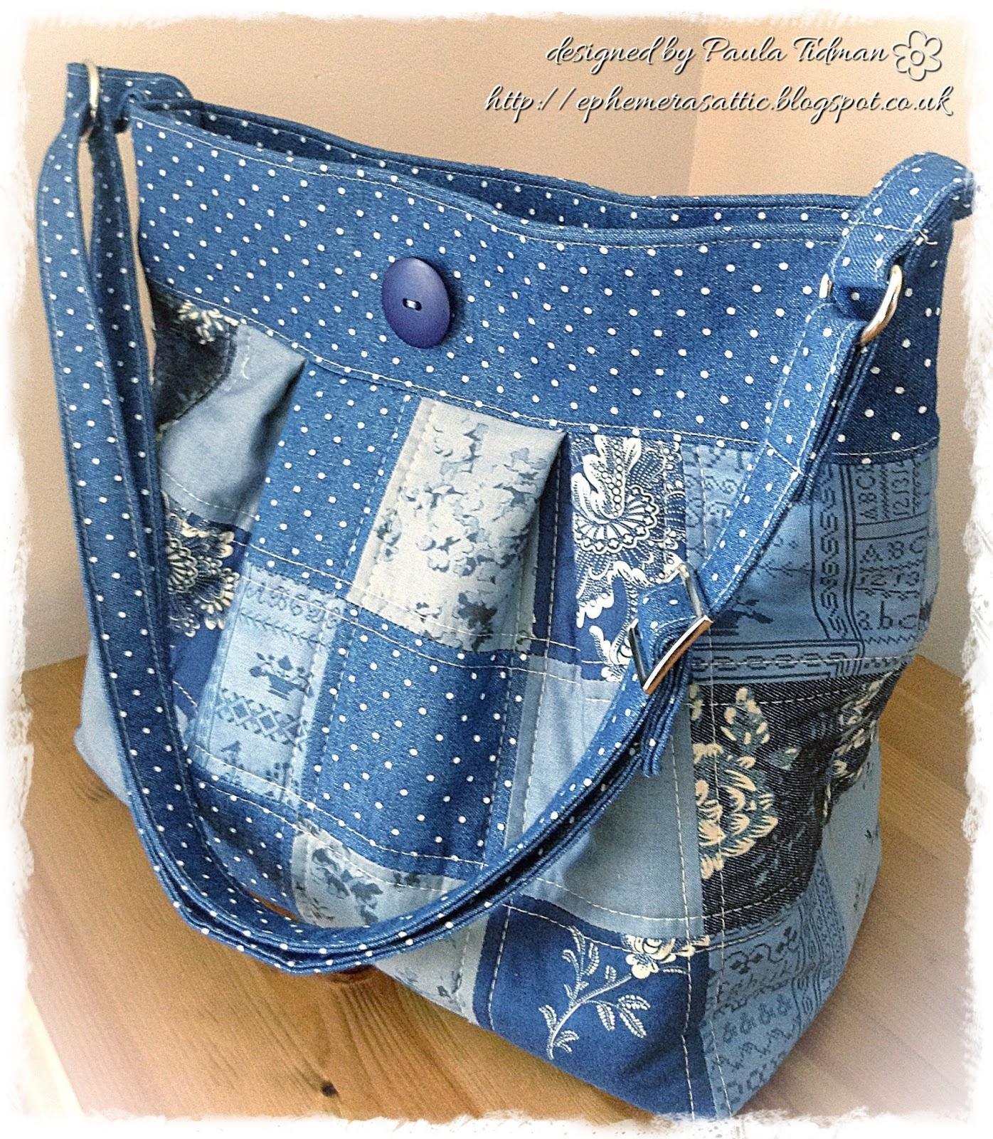 Джинсовые сумки в стиле пэчворк