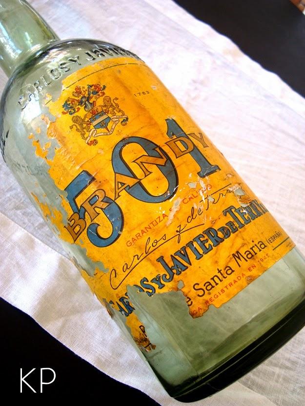 Comprar botella antigua de cristal para decoración