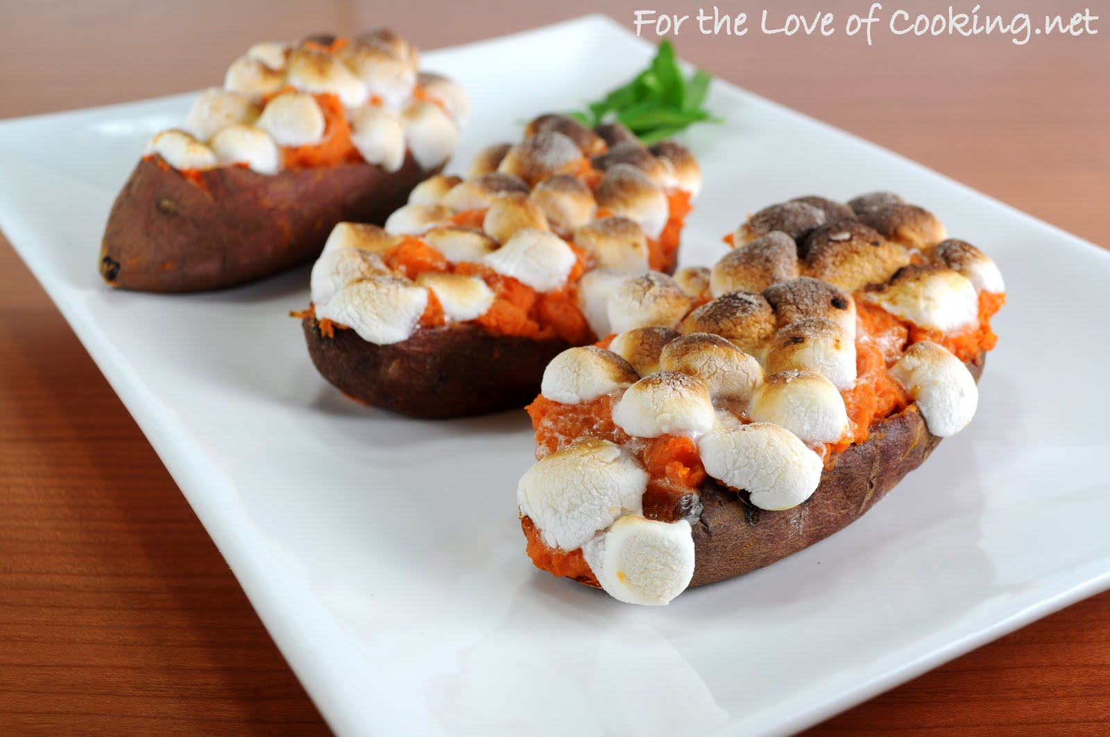 ... of Cooking: Twice Baked Maple & Cinnamon Yams with Mini Marshmallows