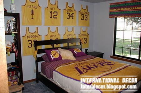 basketball kids bedroom theme ideas cool sports kids room themes ideas - Boys Room Ideas Sports Theme