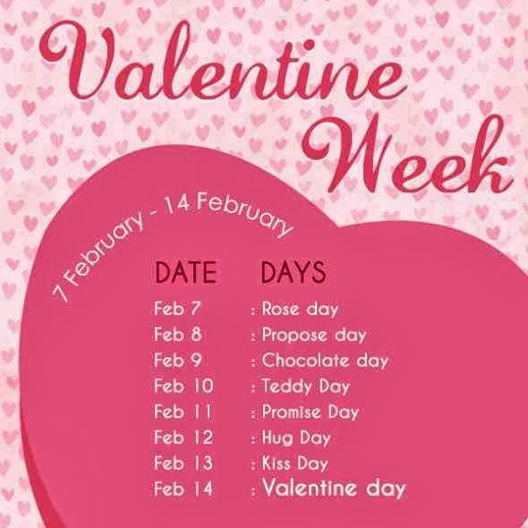 Valentine Week List 2018 Dates Schedule Rose Day Propose Day Hug ...