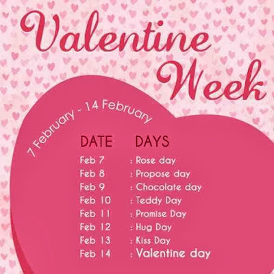 Valentine Week List 2015 Dates Schedule Rose Day Propose Day Hug Day Kiss Day Chocolate Day Full list