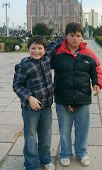 Mis nietos: Pablito y Benjamín Huebra Larrain hace algunos años.