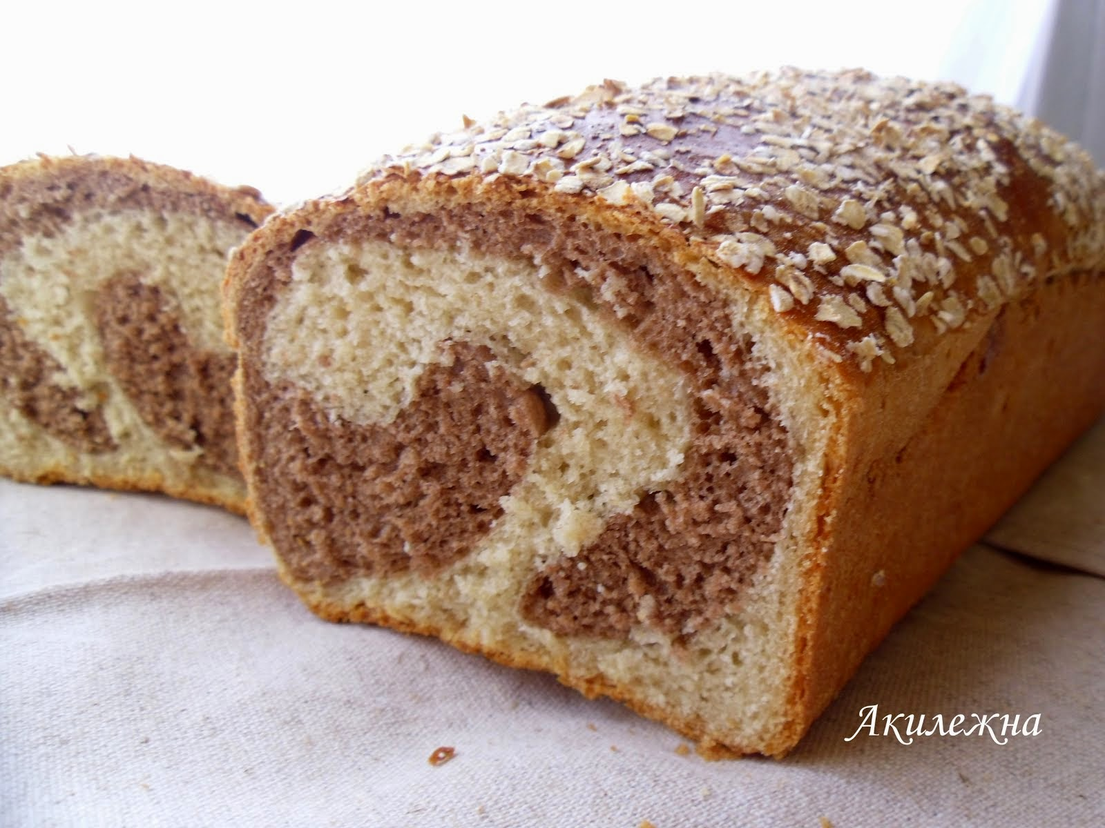 Мраморный ржаной хлеб
