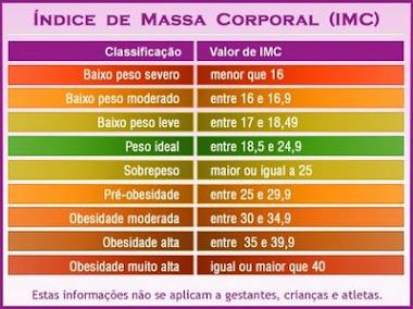 ÍNDICE DE MASSA CORPORAL - IMC
