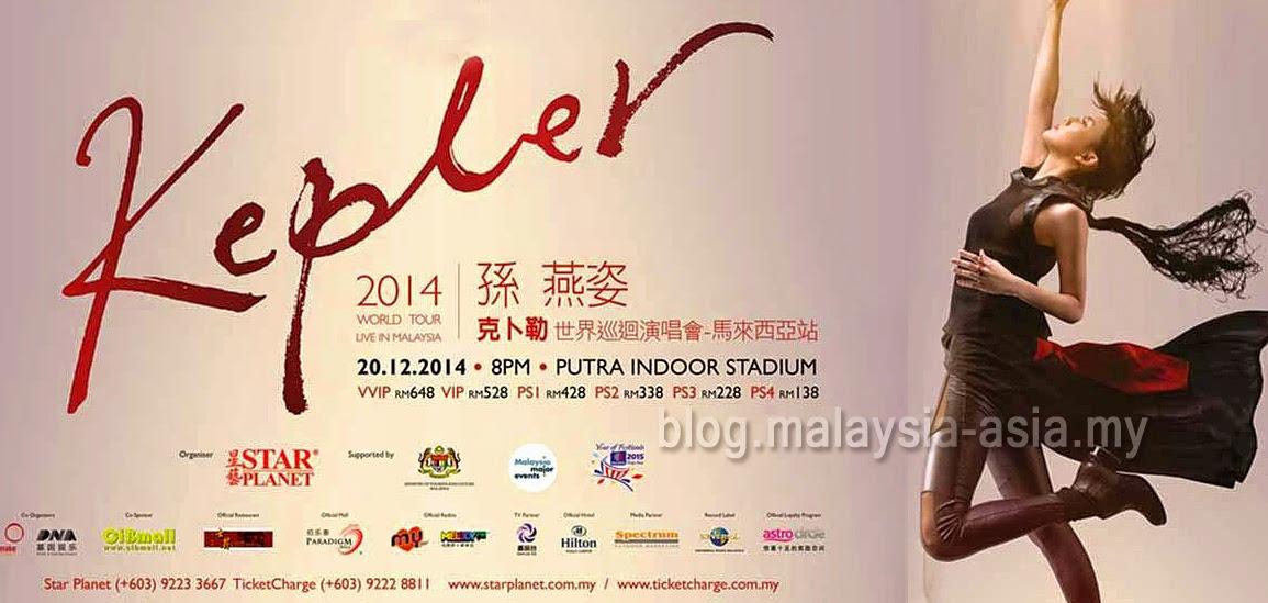 Stefanie Sun Kepler World Tour in Malaysia 2014
