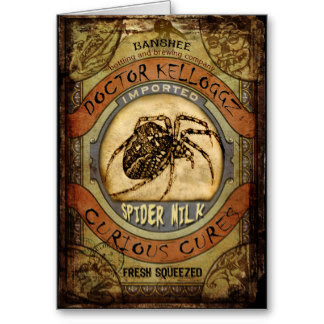 Spider Milk Greeting Card