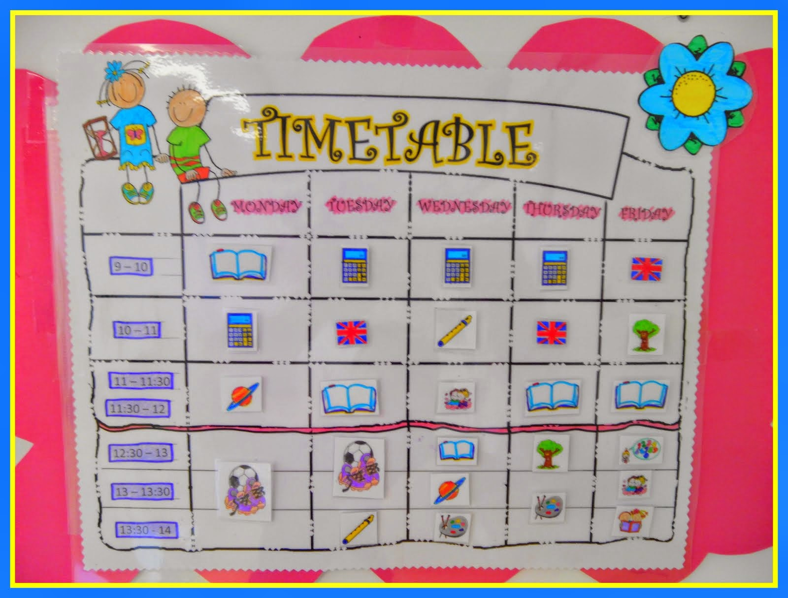 **TIMETABLE**