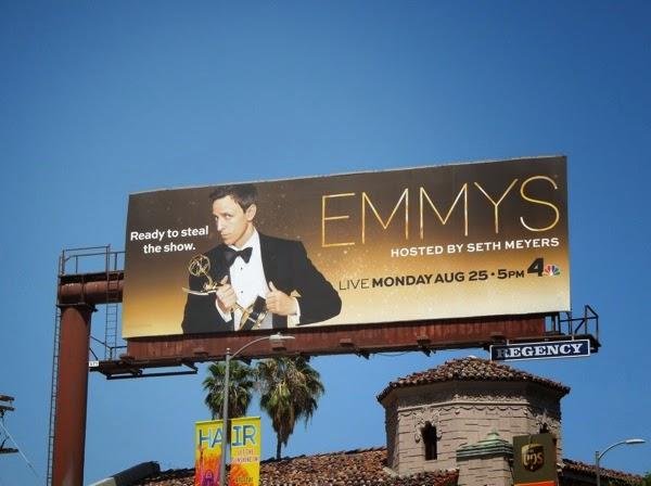 Seth Meyers Emmys billboard 2014