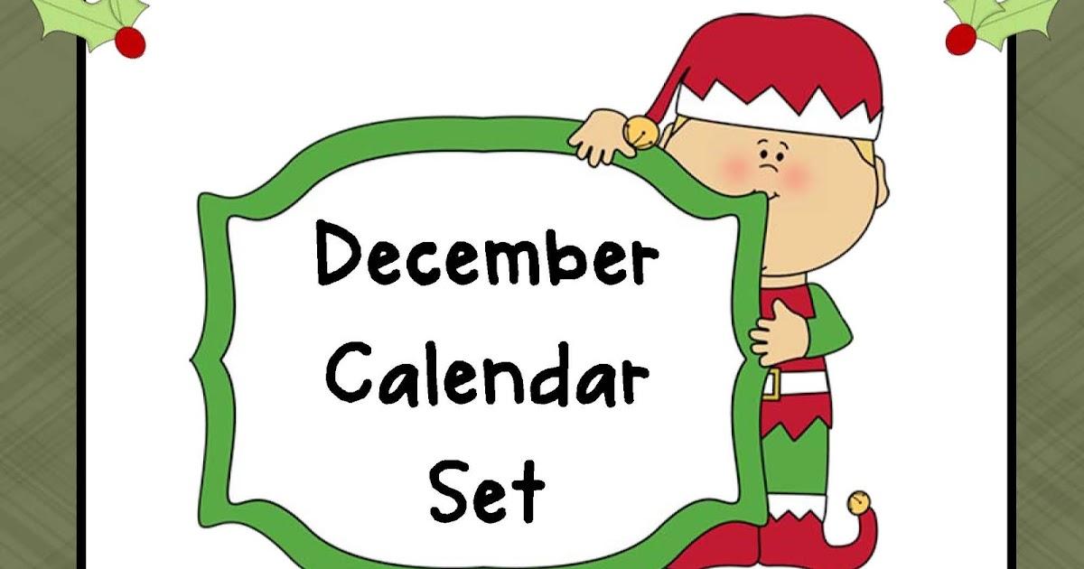 December Calendar Kindergarten : The kindergarten pod december calendar set