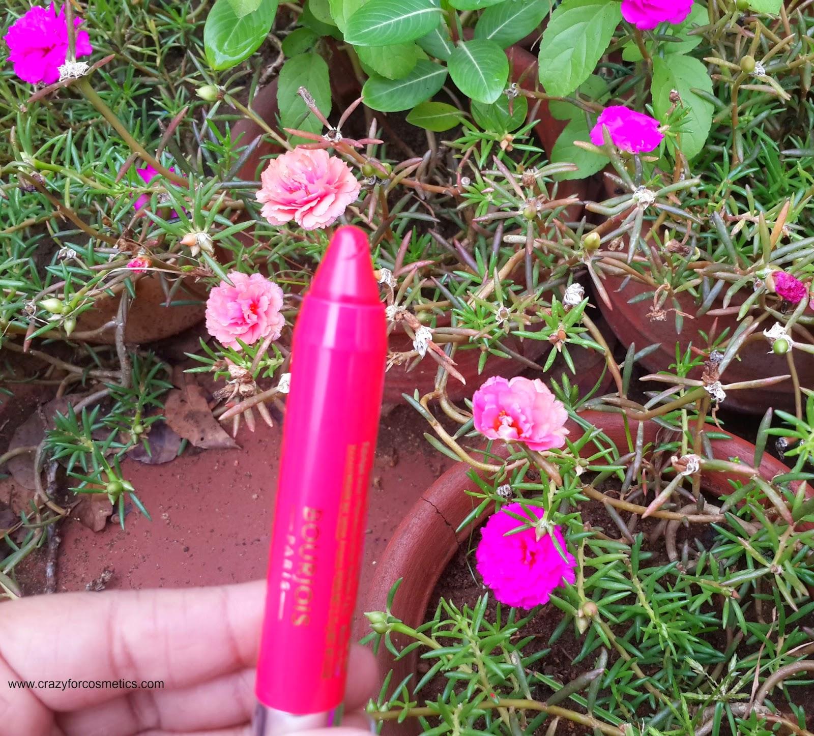 Bourjois Paris Color Boost Lip Crayon in Red Sunrise in India