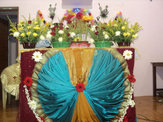 Murasancode parish komanvilai feast second day altar for Altar decoration ideas