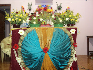 Murasancode parish komanvilai feast second day altar for Altar wall decoration