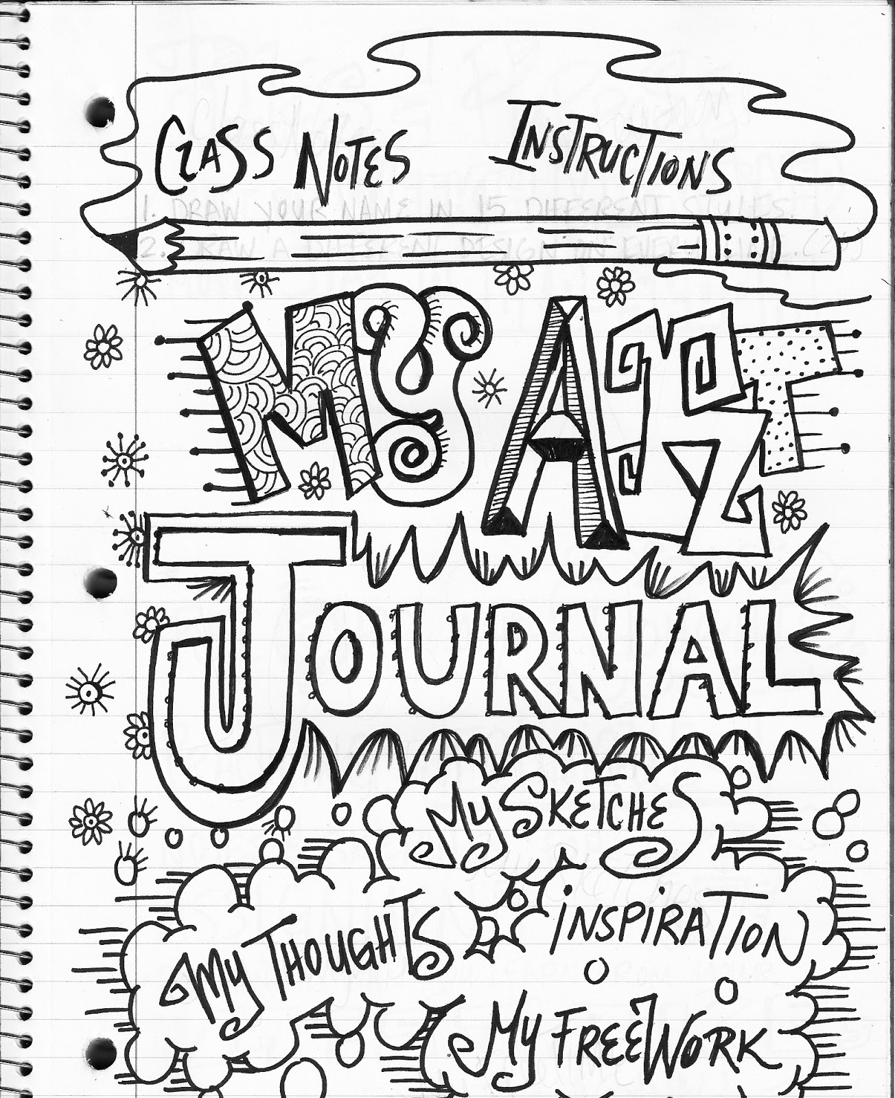 Classroom Design Journal Articles ~ The lost sock art class journaling