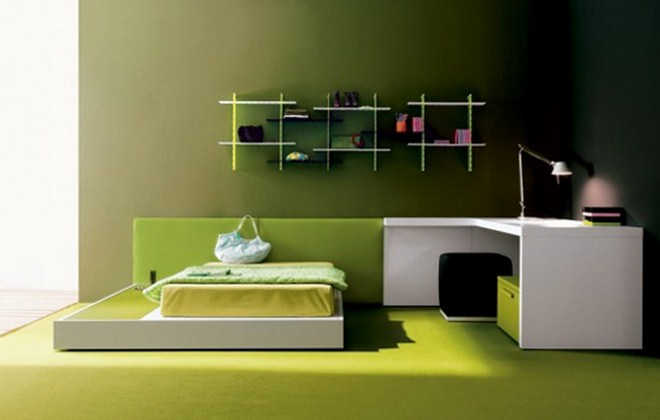 Green Bedroom Color Ideas green bedroom decorating ideas for minimalist home - hag design
