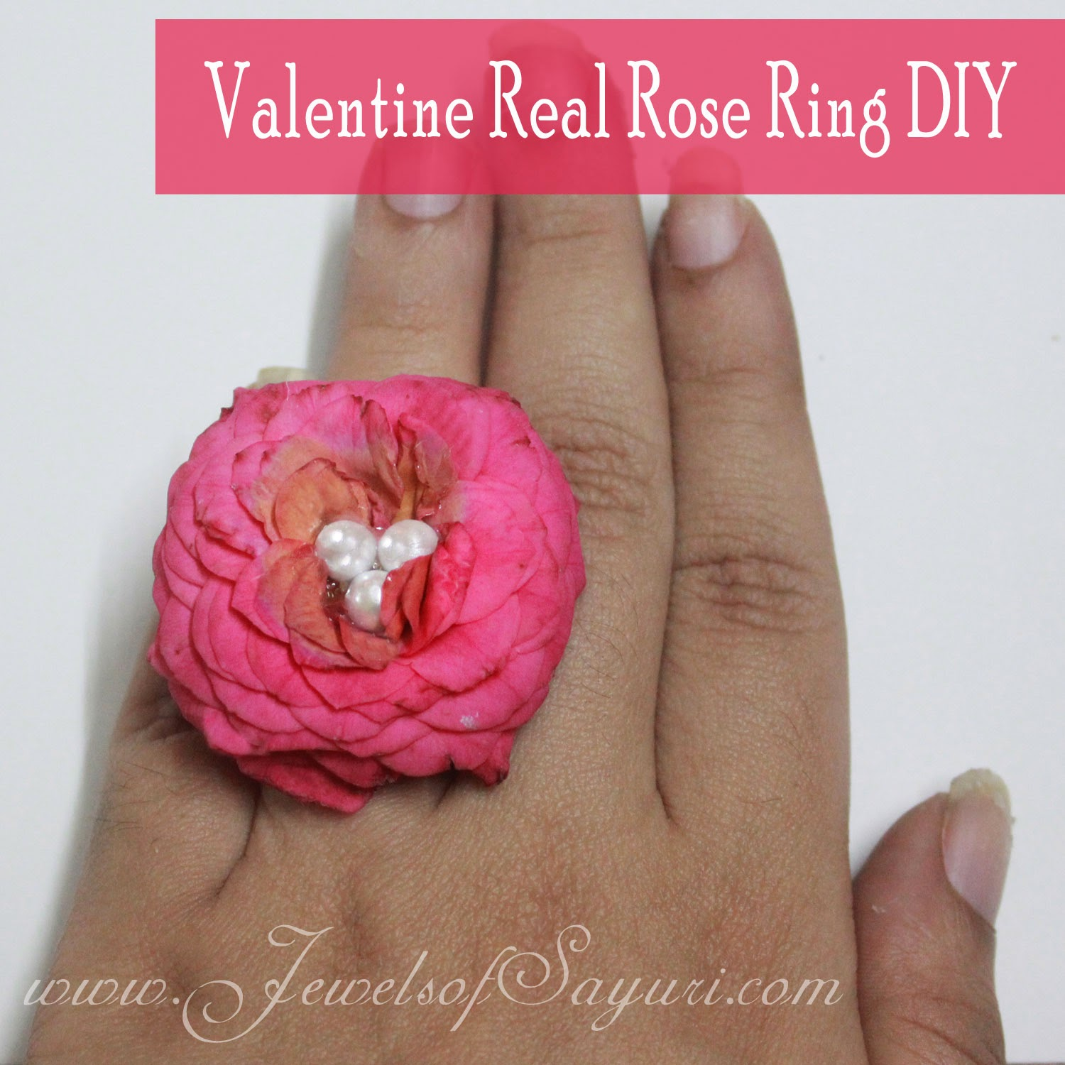 Valentine real rose jewlery DIY