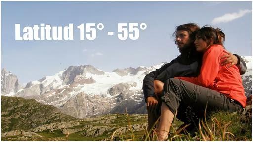 Latitud    15°  -  55°