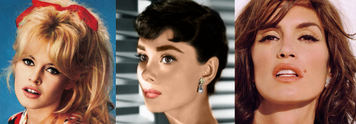 brigitte bardot audrey hepburn cindy crawford make up tutorial