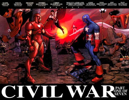 La guerra civil entre superheroes comienza antiguos aliados se ven
