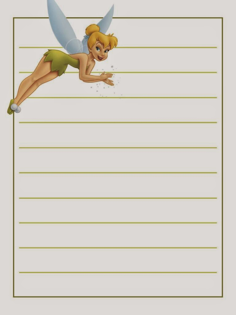 tinkerbell free printable notebook