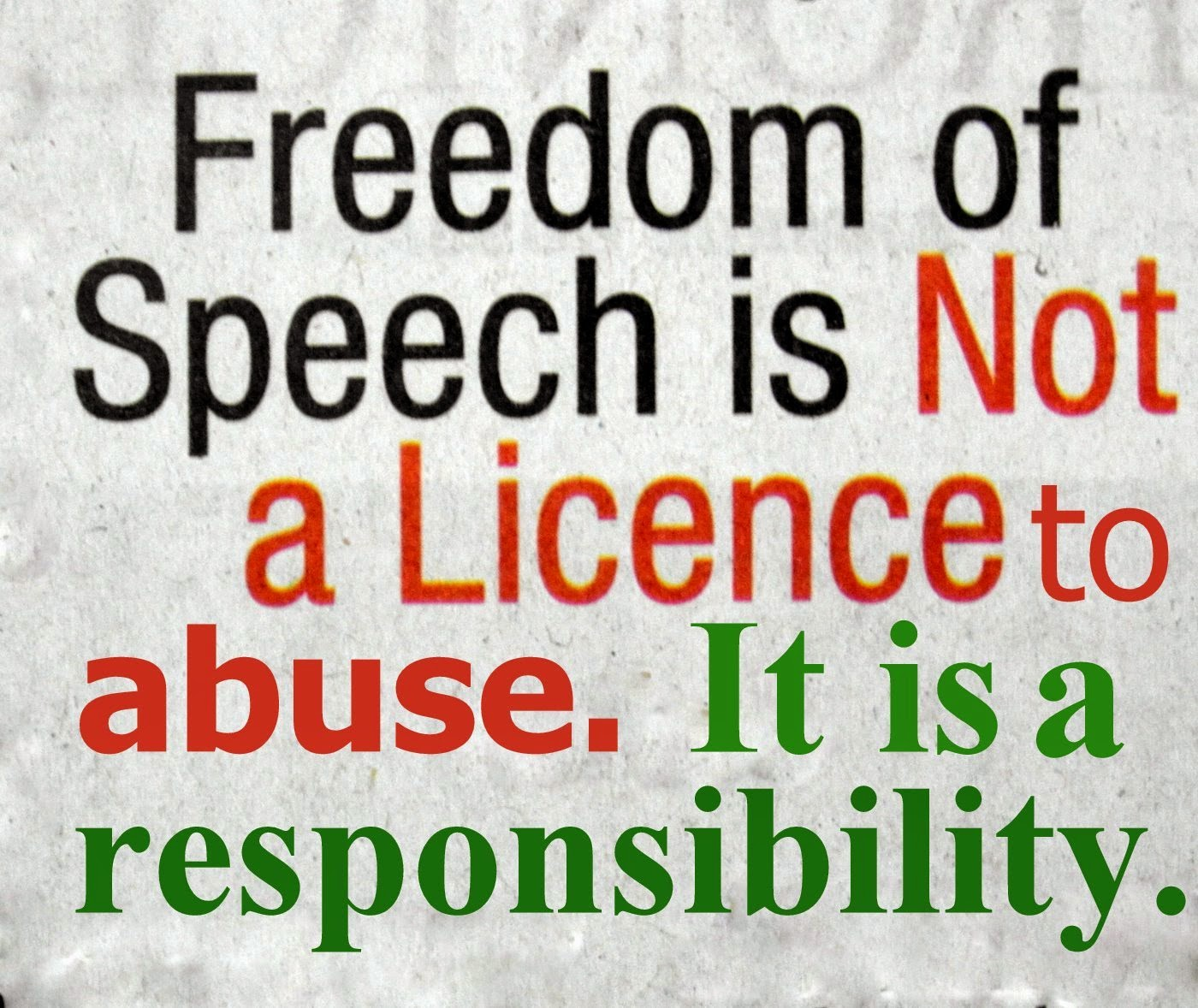 When Freedom of Speech Goes too Far with images chistinas – Freedom of Speech Example Template