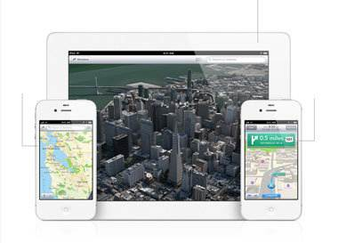 Os mapas perdidos do iOS 6