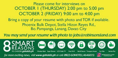 Go Hotels In Davao Is Now Hiring Check Out The Photos Below