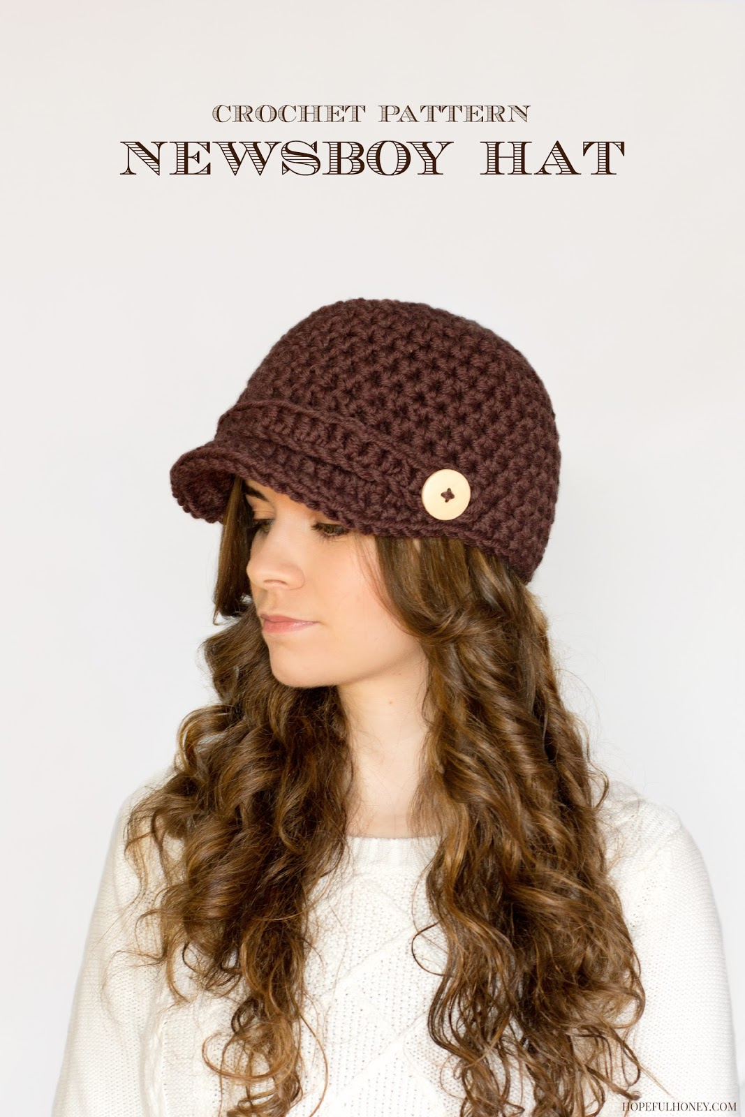 Free Crochet Pattern Newsboy Style Cap : Hopeful Honey Craft, Crochet, Create: 10 Free