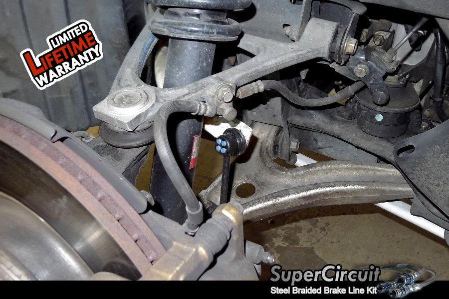Steel Braided Brake Lines Installed : Supercircuit steel braided brake lines mazda rx