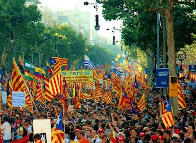 Manifestación independentista catalana