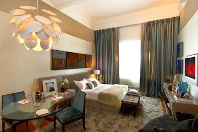 Decoração cortina em quarto