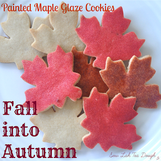 Fall into autumn glazed cookies