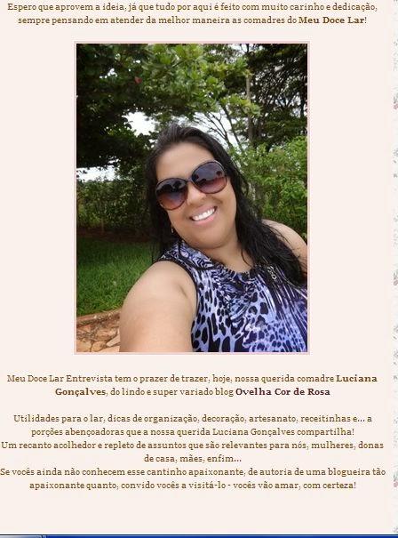 Entrevista com Luciana do Blog Ovelha Cor de Rosa