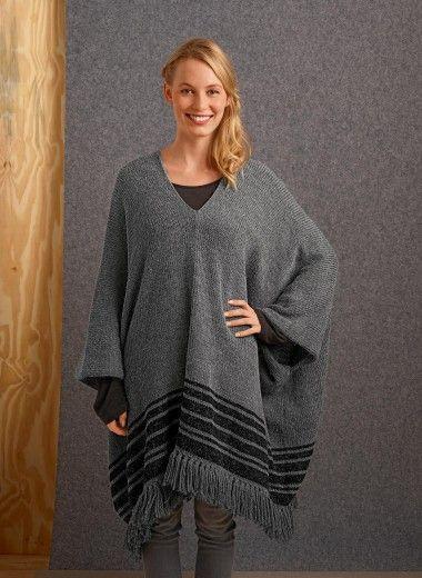 Mes favoris tricot crochet mod le gratuit un poncho au tricot - Explication pour tricoter un poncho femme ...