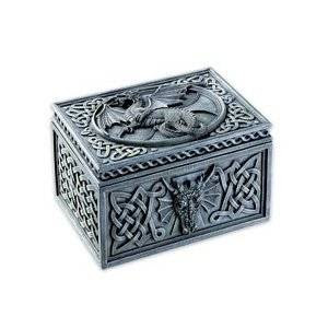 Dragon Celtic Jewelry Box - Collectible Tribal Container