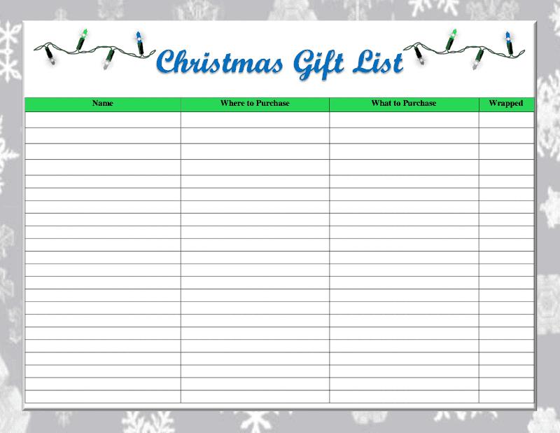 christmas list maker printable free printable christmas shopping