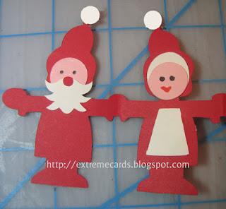 Santa paper doll card
