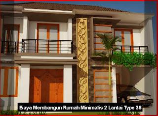 Biaya Membangun Rumah Minimalis 2 Lantai Type 36