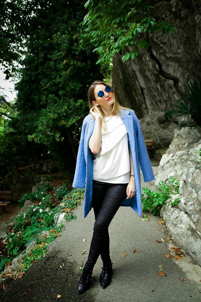 glamorous blue coat