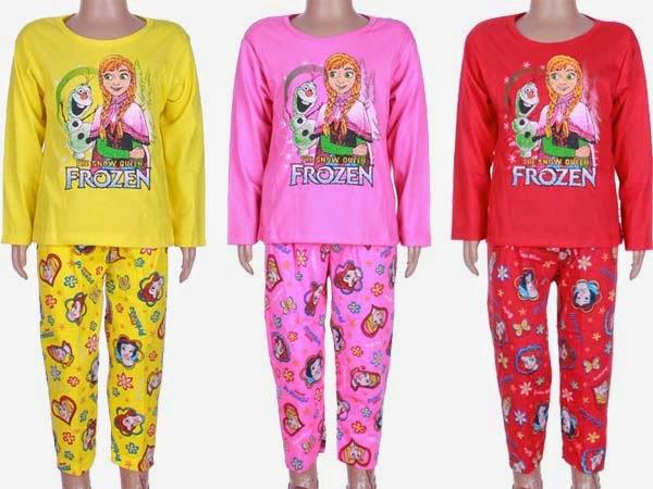Model Baju Tidur Anak Perempuan Motif Frozen